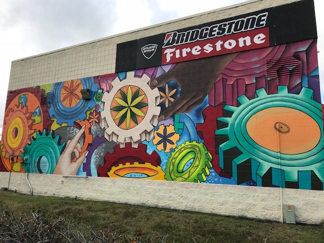 """We are all Connected"" mural"